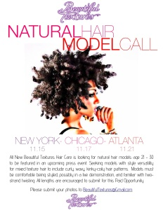 Natural Hair Model Call