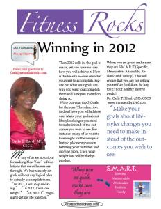 Win S.M.A.R.T in 2012 with Fitness Rocks expertCarla