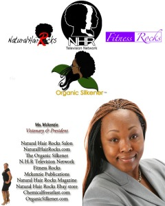 Visionary Larissa Mckenzie founder of Natural Hair Rocks brand.